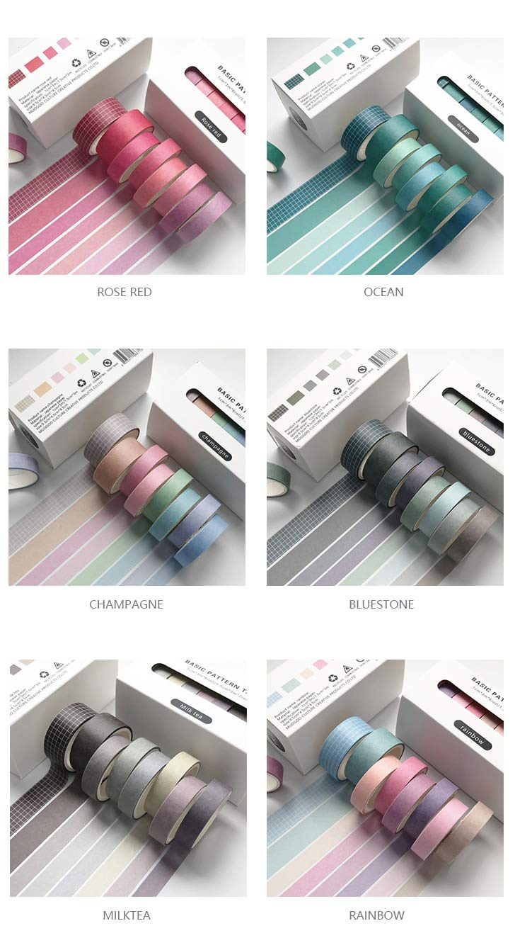 colourful washi tapes planner accessories