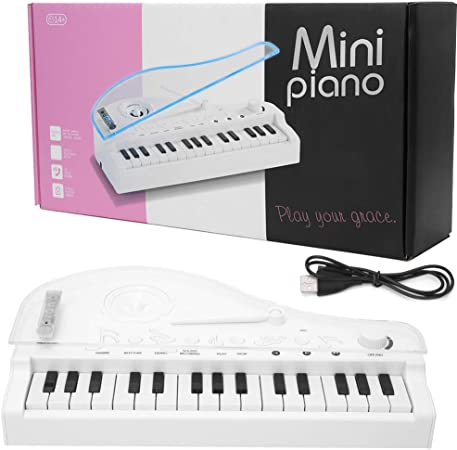 SunshineFace Piano de Cola Ligero Colorido de 31 Teclas 7 ...