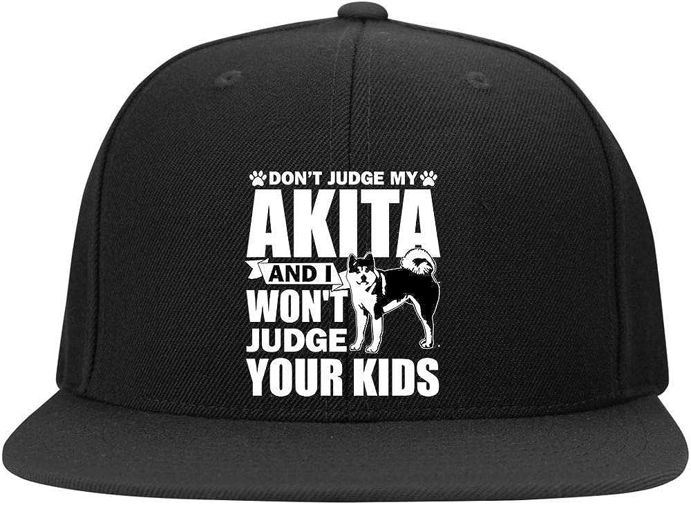 Dont Judge My Akita Cap I Love My Dogs Profile Snapback Hat