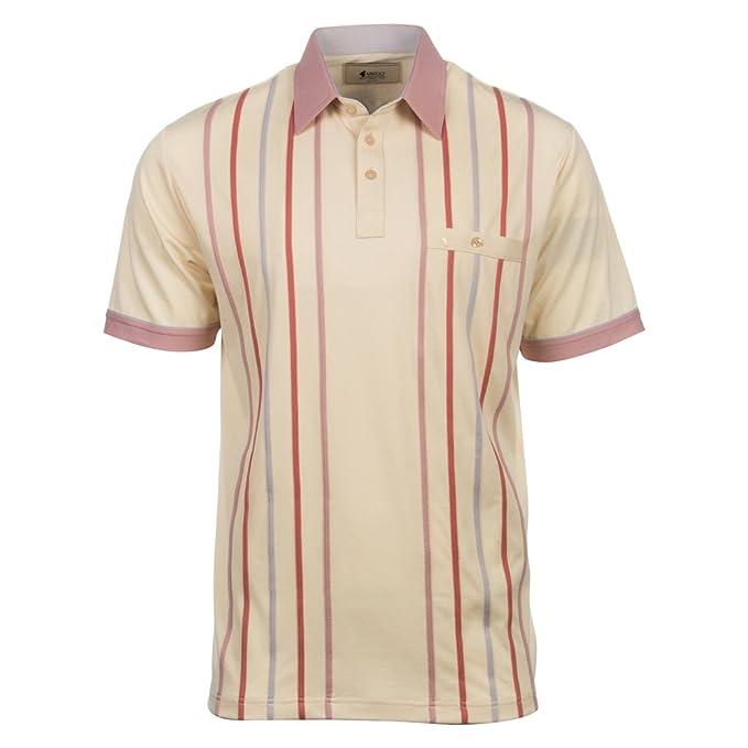 Gabicci Polo de rayas de manga corta camiseta Marfil crudo xx ...
