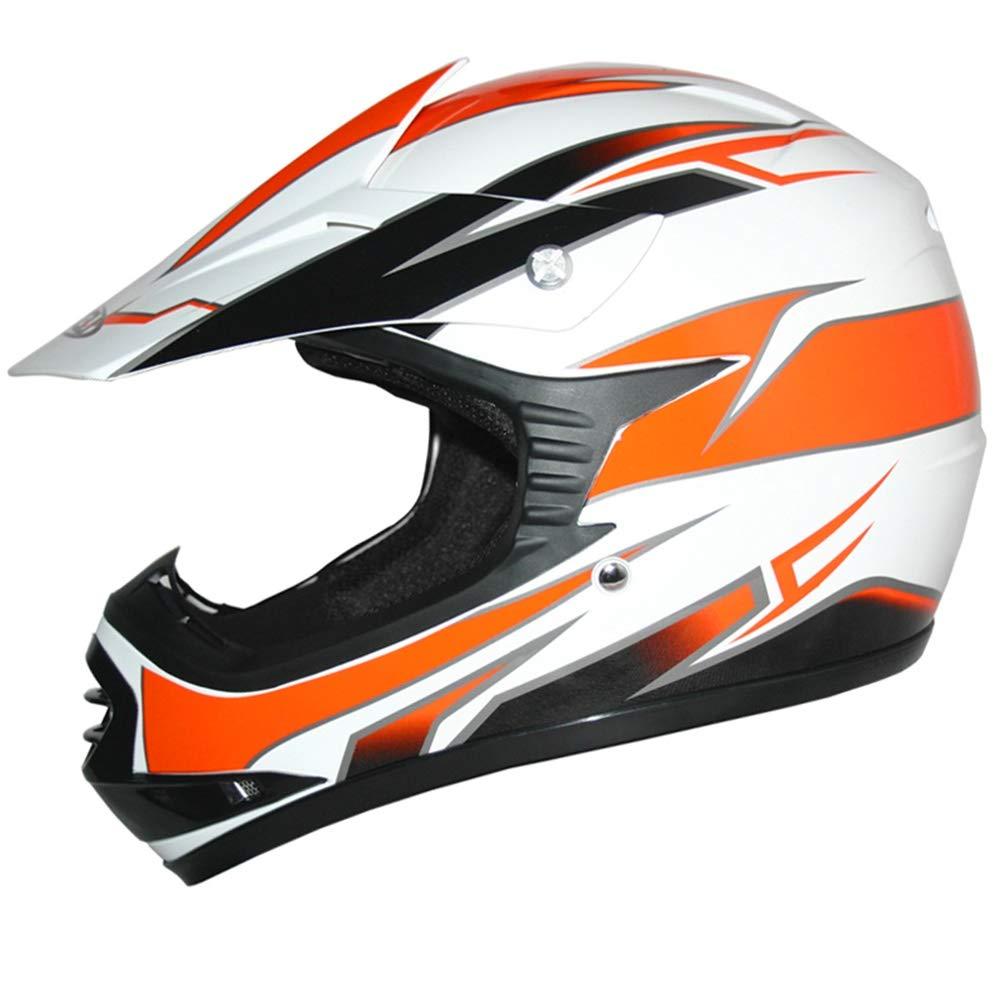+ Gafas 3-4 A/ños + Camo Traje de Motocross para Ni/ños M 51-52cm XS M 6cm Guantes Leopard LEO-X16 Naranja Casco de Motocross para Ni/ños
