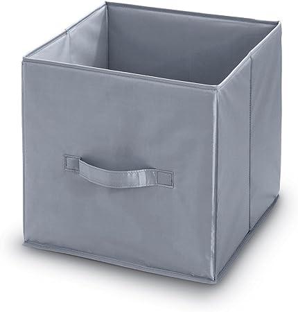 Armario cajón para fabricbox lino negro y verde 32 x 32 cm caja plegable para mueble IKEA Kallax expedit drona: Amazon.es: Hogar