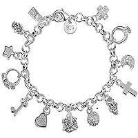 Charm Bracelet Women Silver Jewelry Hand Chain Pendants Decoration