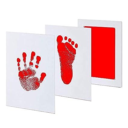 Gosear Bebé recién Nacido Seguro no tóxico Limpio Touch sin Tinta Touch Handprint Huella Pad de