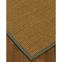 NaturalAreaRugs Hamptons Custom Seagrass Rug 2 6 x 14 Stone Border