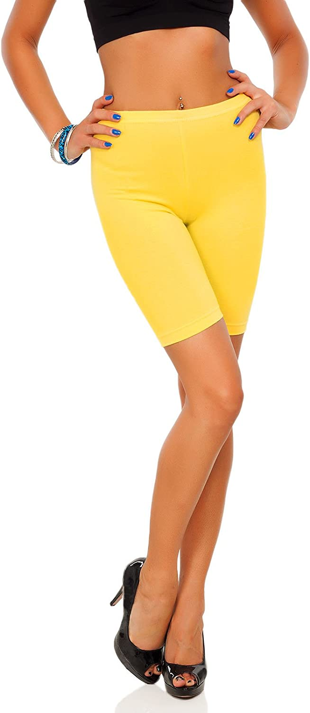 SOFTSAIL Legging en Coton 1//2 Longueur sur Le Genou Confortable Respirant Sport Gym Cyclisme Pantalon /élastique LK