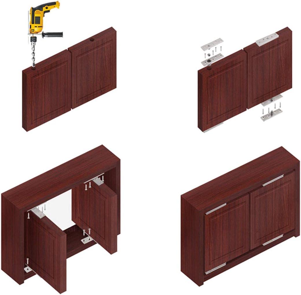 Acero inoxidable superior e inferior puerta de madera con bisagras puerta pivote bisagra 100mm x 25mm360 grados eje giratorio 2 juegos