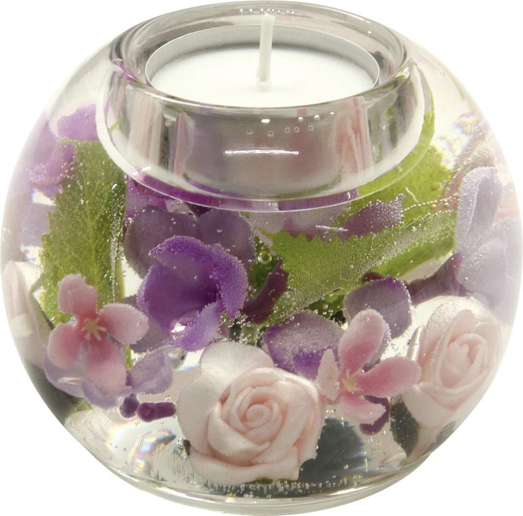 Moderner Teelichthalter Windlichthalter /'Mercur/' aus Glas 10x11 cm Inklusive LED