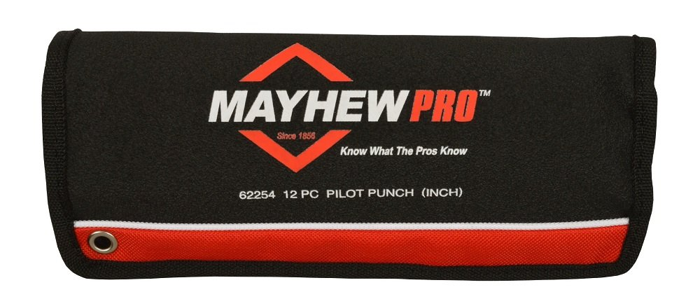 Mayhew Pro 62254 112-K Pilot Punch Kit, 12-Piece by Mayhew Tools