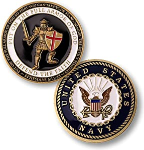 Armor of God - Navy Challenge Coin