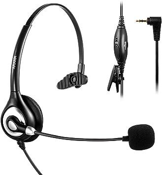 Arama - Auricular inalámbrico para teléfono Panasonic Jabra Cisco Polycom Zultys Gigaset DECT Polycom Grandstream (micrófono con cancelación de Ruido, 2,5 mm): Amazon.es: Electrónica