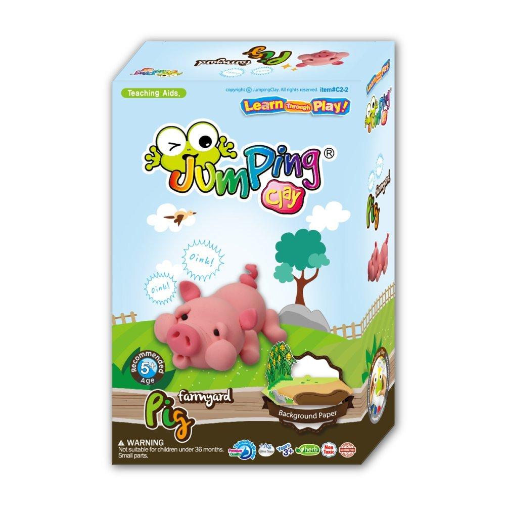 Pig - Kids Air Dry Modelling Clay Kit | Farmyard Animals by JumpingCLAY