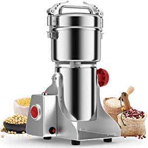 Greatrue 700g Electric Grain Mill Grinder,Spice Grinder Corn Grinder mill Herb Pulverizer for flour mill Wheat Fish Sesame Pepper Coffee Rice,110v High Speed Powder Grinder Machine