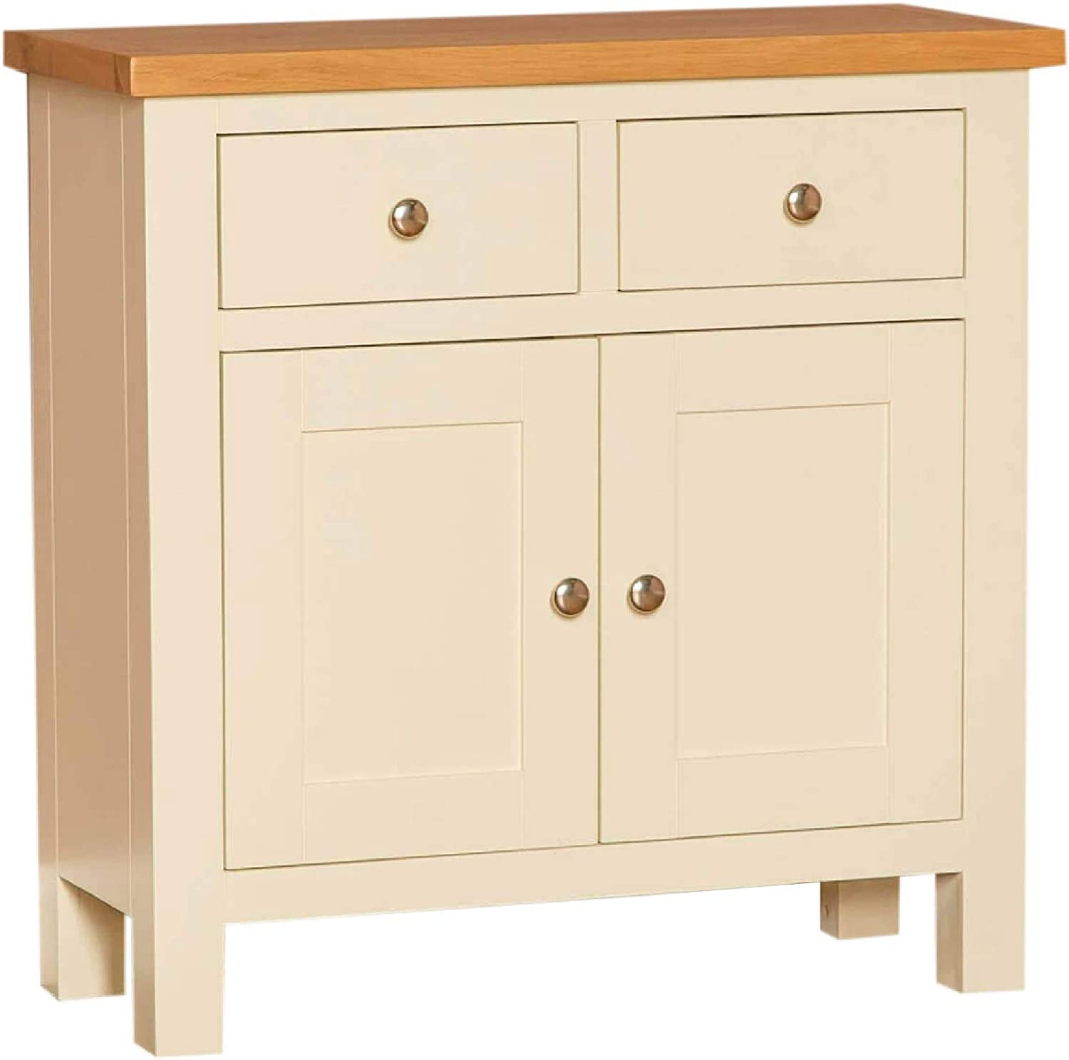 Farrow Cream Mini Sideboard Storage Cabinet With Drawers Small Painted Solid Wooden Cupboard With Shelf For Dining Room Living Room Or Hallway Fully Assembled H 75cm W 75cm D 32cm Amazon Co Uk Kitchen Home