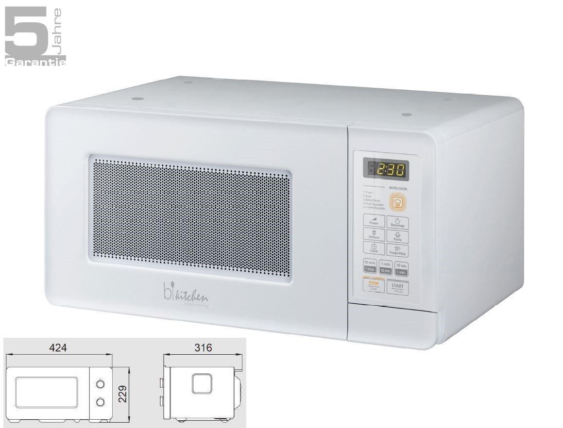 bkitchen unterbau della mini del forno a microonde 600W, elettronico, 15L, Bianco, Mini 200W MINI200WS