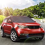 """Ohuhu 65""""x44""""Windshield Snow Cover Ice Removal Wiper Visor Protector Fit for 4-Door Car, Minivan, Sedan, CRV and Hatchbacks, Water Resistant"""