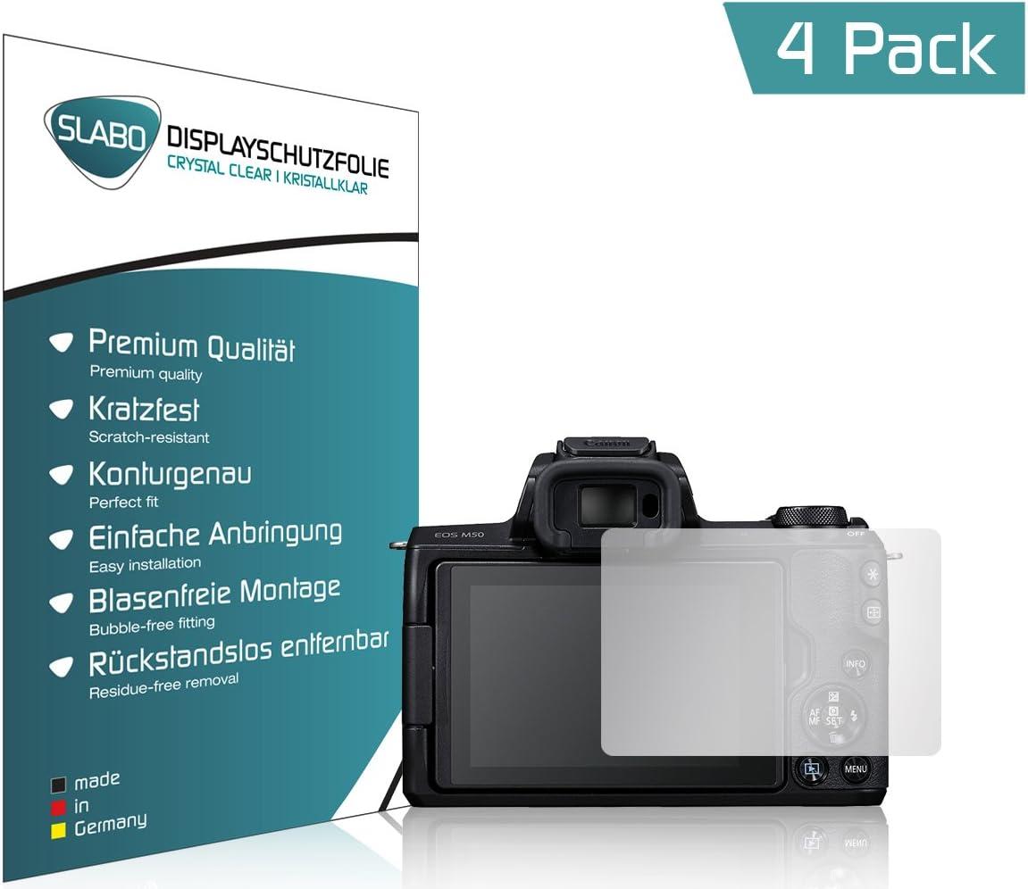 Slabo 4 x Film de Protection d/écran pour Canon EOS M50 Protection /écran Film de Protection Film Ultra Clair Invisible Made in Germany