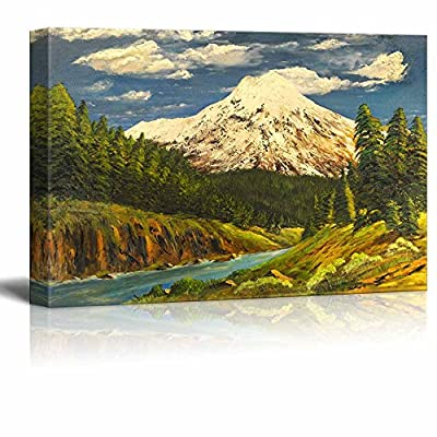 Alluring Handicraft, Beautiful Scenery Landscape of Spring Valley in Oil Painting Style Wall Decor, Premium Creation