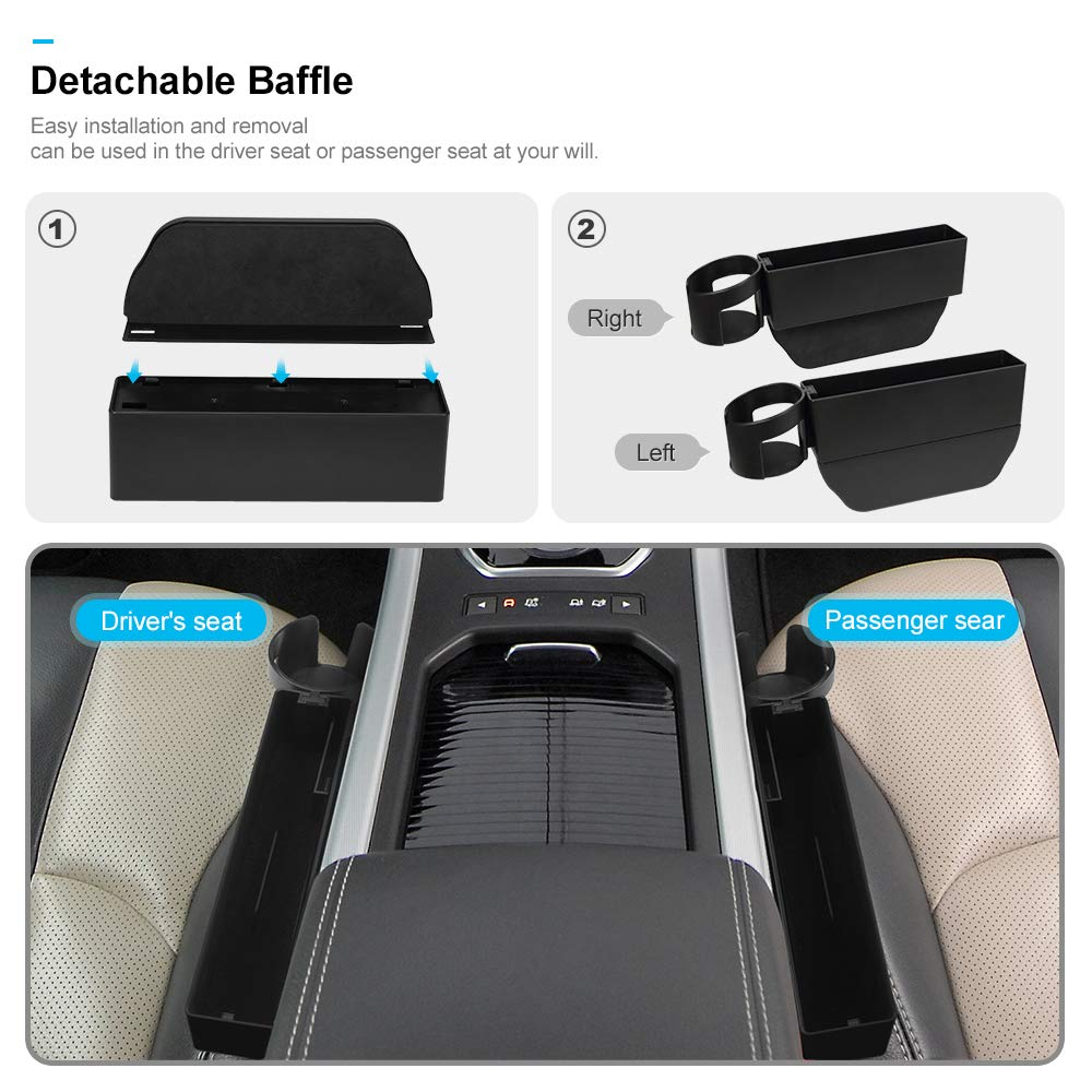 Car Rear Seat Hook with Lock Rotatable Universal Car Backseat Organiser Car Rear Seat Mobile Phone Holder - Black 2 Pack Jevogh GR20 Car Headrest Hanger for handbags//purse//grocery bags//coats