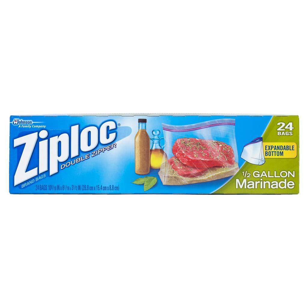ziploc all purpose half gallon marinade bags 24 ct pack of 3 health personal care. Black Bedroom Furniture Sets. Home Design Ideas