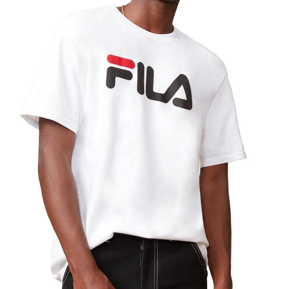 Fila SHIRT メンズ B001K4YNSA XXXL|White, Black, Chinese Red White, Black, Chinese Red XXXL