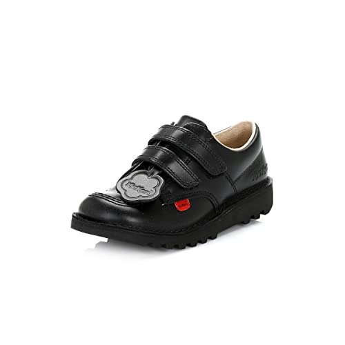 5f0b99bd715a6 Kickers Kick Lo Velcro I Core (Infants) - Black Leather Kids Shoes