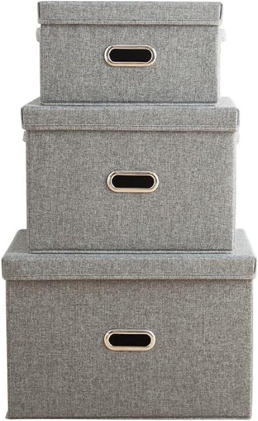 Pengye Tres Cajas de Almacenamiento de Tela de algodón sin Olor ...