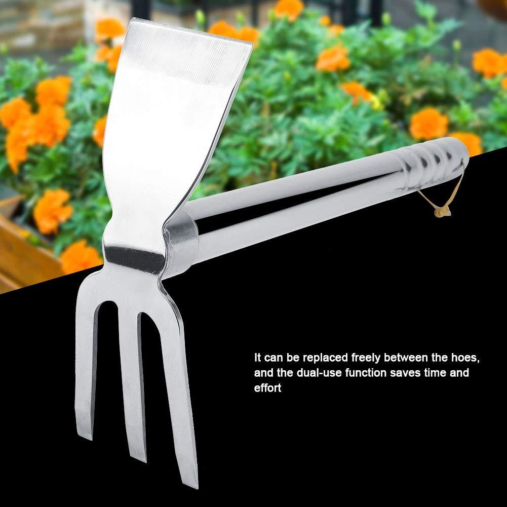 Gartenwerkzeug Grubber aus Stahl mit Komfortablen Griff f/ür den Anbau von Harten B/öden Gartenhacke Kleine Rechen