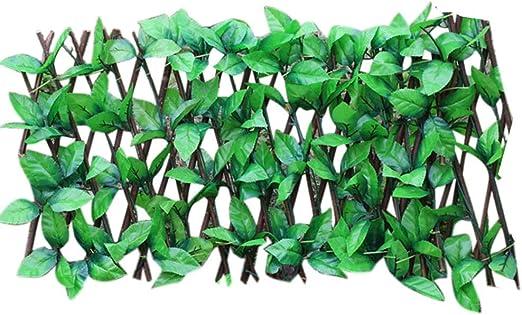 sunflowerany Pantalla De Privacidad del Balcón Seto Artificial con Celosía Valla De Madera Extensible UV Protegido para Jardín, Decoración De Paredes Fiestas: Amazon.es: Hogar