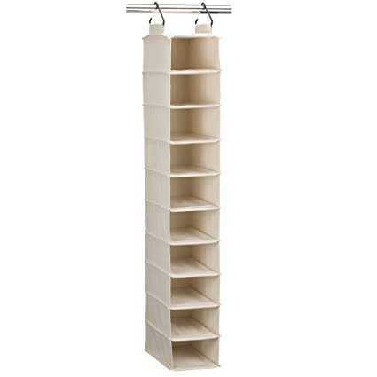 Delicieux Household Essentials 3328 1 Cotton Canvas Hanging Closet Shoe Organizer |  10 Shelf |
