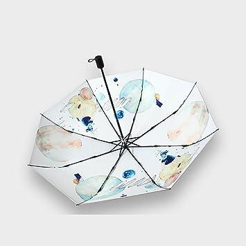 LHZMD Protector Solar Parasol, Paraguas Varilla Material Acero Inoxidable, Tela Paraguas Hit Tela,