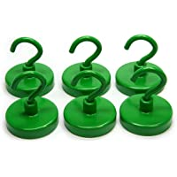 """CMS Magneitcs Ceramic Magnet Hook 1 1/4"""" in Diameter with 18 LB Holding Power 6-Count (Green)"""