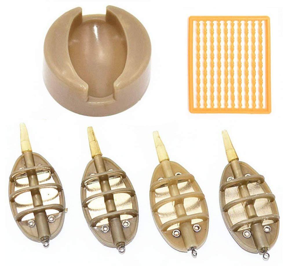 Sistema de cebadores en línea para pesca de carpas con molde de goma de fácil liberación y cebo Boilie Accesorios para pesca de carpa gruesa: Amazon.es: ...