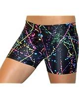 """GemGear Paint Splatter 4"""" Inseam Compression Shorts"""
