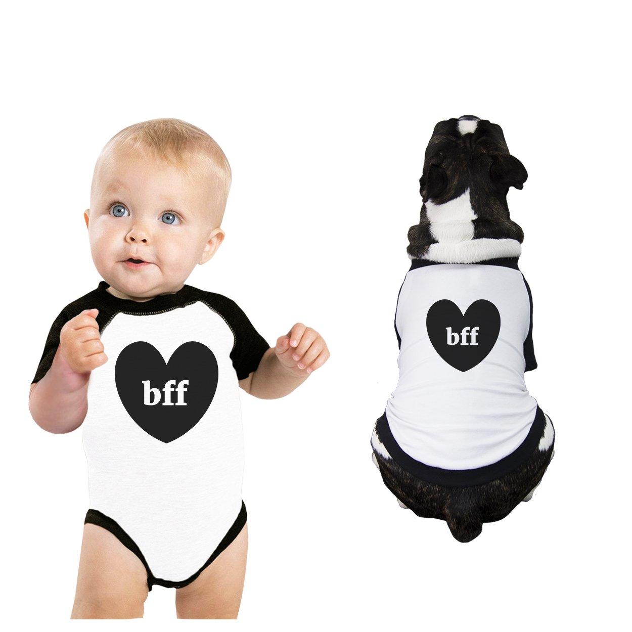 365 Printing BFF Hearts Baby Pet Matching Raglan Shirts Cute