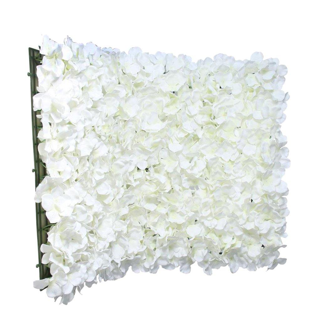 Homyl 10x Panneau De Mur En Fleur Artificielle Support Decor De Fete