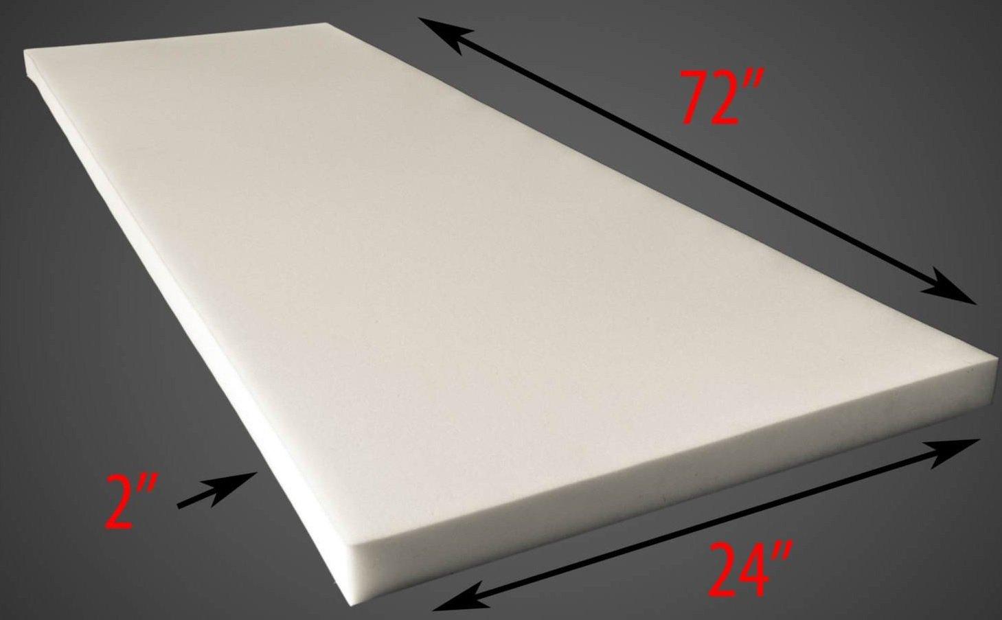 Foam Sheet 2'' Thick, 24'' Wide X 72'' Long Medium Density by luvfabrics