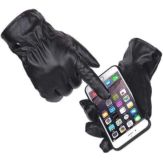 Guantes t/áctiles con Pantalla t/áctil LeKing--Guantes el/éctricos para Montar en Moto Unisex Guantes Moto PU