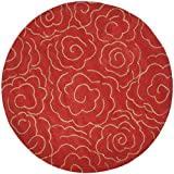 Safavieh Soho Collection SOH812A Handmade Red Premium Wool Round Area Rug (6′ Diameter) For Sale
