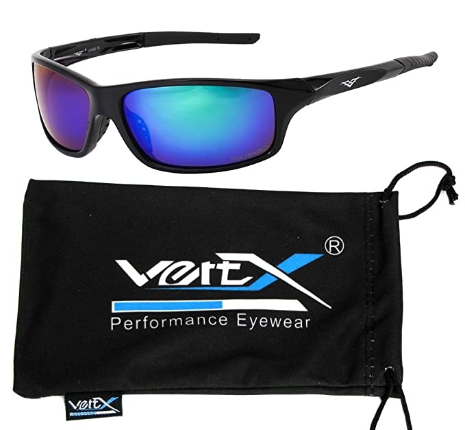 87a14288c7 VertX Men s Polarized Sunglasses Sport Cycling Running Outdoor w free  Microfiber Pouch – Black Frame