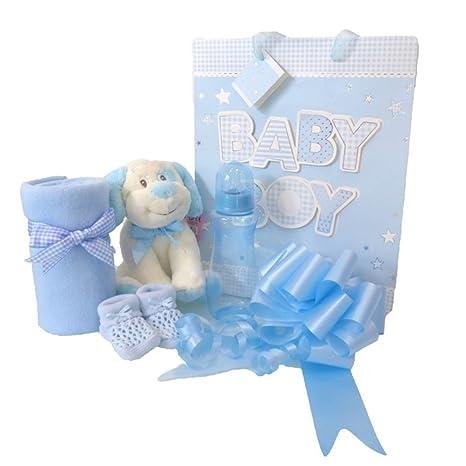 Bolsa de regalo para bebés y niños, cestas azules para recién nacido, cestas de