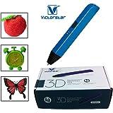 VICTORSTAR @ 3D Stylo-RP600A / Version 4 de Génération fait 4 des améliorations plus importantes et de meilleures opérations pour 3D Dessin / Stylo 3D + Aadaptateur Secteur + ABS Flaments + Manuel + Tournevis / Cadeau étonnant pour les Enfants (bleu)