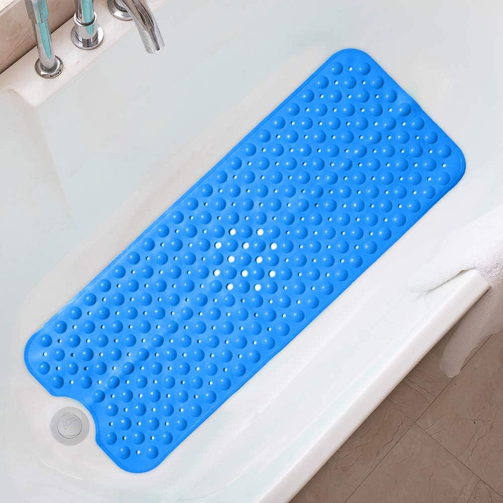 PECHTY Duschmattem 100 x 40 cm,Antirutschmatte Badewanne mit Saugnapf,Premium Badewannenmatte Hautsensitiv rutschfeste Duschmatte f/ür Kinder und Erwachsene,BPA Frei