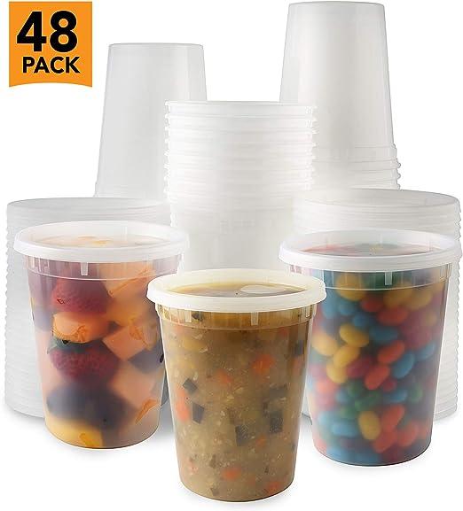Contenedores de plástico para almacenamiento de alimentos Deli con ...