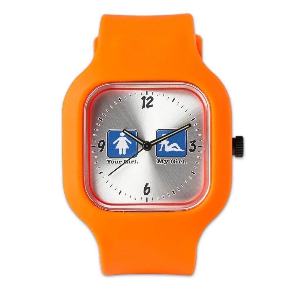 Orange Fashion Sport Watch Your Girl My Girl
