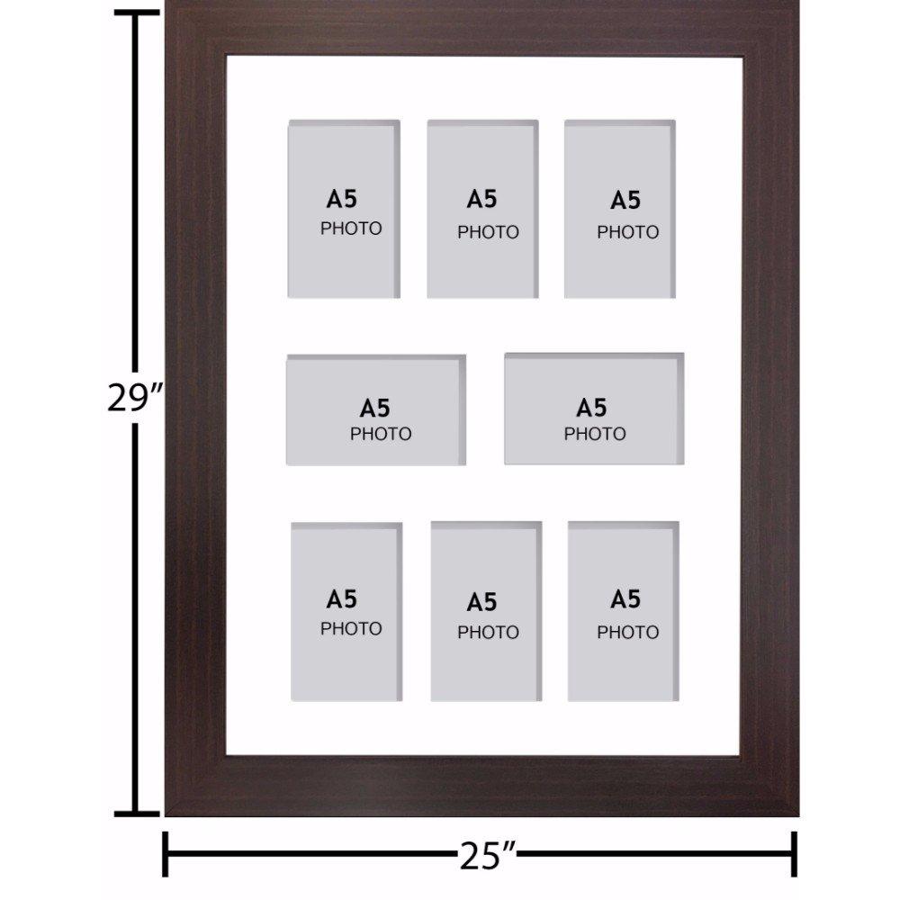 Amazon.de: Große Multi Bilderrahmen Blende Rahmen, Größe A5 mit 8 ...