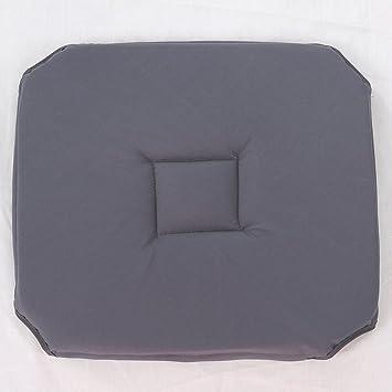 Deconovo Galette De Chaise Impermable Avec Rabats 40x40 Cm Gris Fonc