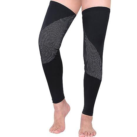 519a1b9847 Amazon.com : Uriah Compression Leg Warmers Reflective Thermal Fleece ...