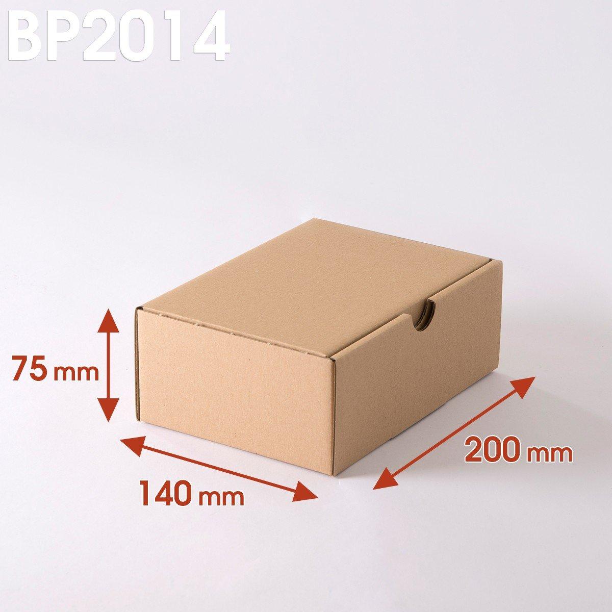 Lot de 100 Boîtes postales brunes 200x140x75 mm