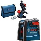 Nível Laser Bosch GLL 2-12 alcance 12m com suporte e bolsa de proteção